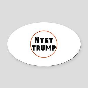 Nyet Trump, No Trump/Putin Oval Car Magnet