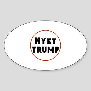 Nyet Trump, No Trump/Putin Sticker