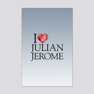 I Heart Julian Jerome Mini Poster Print