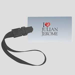 I Heart Julian Jerome Large Luggage Tag