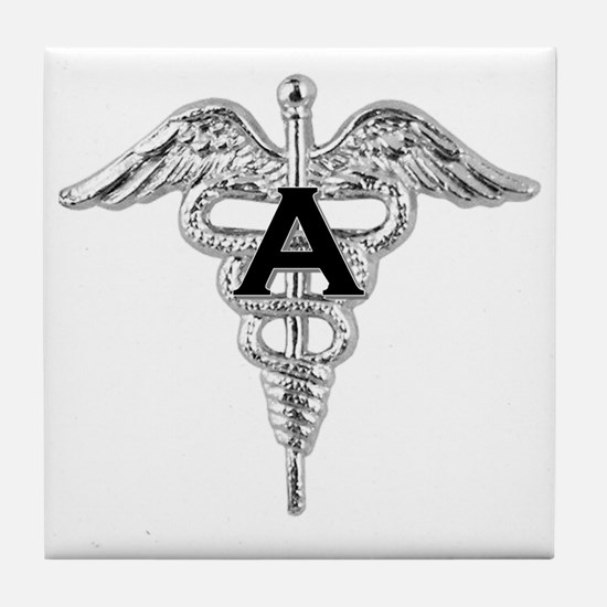 Cute Caduceus Tile Coaster