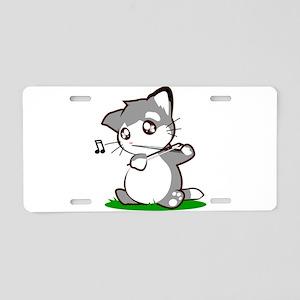 Violin Kitty Aluminum License Plate