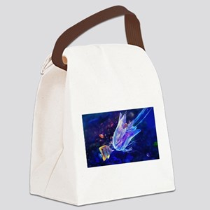 Jellyfish Beauty Canvas Lunch Bag