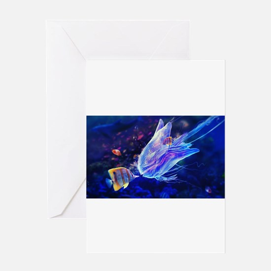 Jellyfish Beauty Greeting Cards