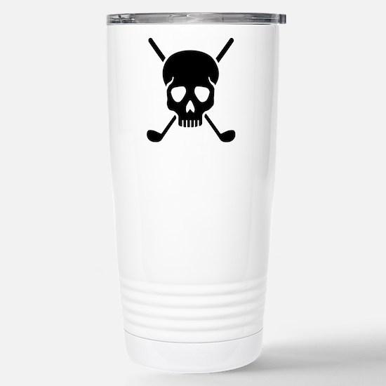Golf clubs skull Stainless Steel Travel Mug