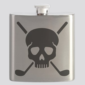 Golf clubs skull Flask