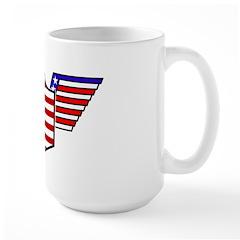 American Flag Patriotic Wings Large Mug