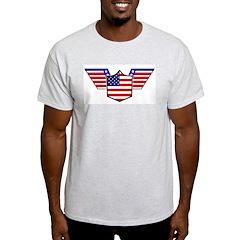 American Flag Patriotic Wings Ash Grey T-Shirt