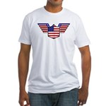 American Flag Patriotic Wings Fitted T-Shirt
