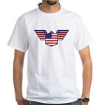 American Flag Patriotic Wings White T-Shirt