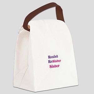 Resist,resister, sister Canvas Lunch Bag