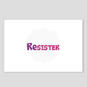 Resister,sisters, women resist trump Postcards (Pa