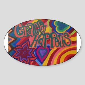 Grace Happens Sticker