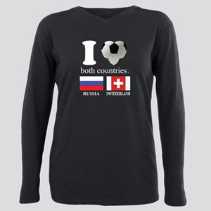 RUSSIA-SWITZERLAND Plus Size Long Sleeve Tee