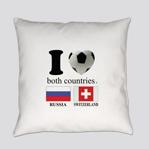 RUSSIA-SWITZERLAND Everyday Pillow