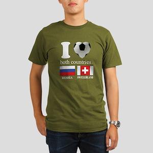 RUSSIA-SWITZERLAND Organic Men's T-Shirt (dark)