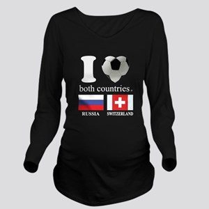 RUSSIA-SWITZERLAND Long Sleeve Maternity T-Shirt