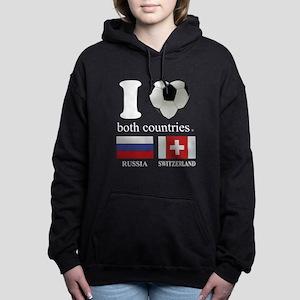 RUSSIA-SWITZERLAND Women's Hooded Sweatshirt