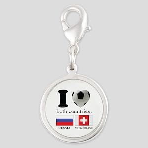RUSSIA-SWITZERLAND Silver Round Charm