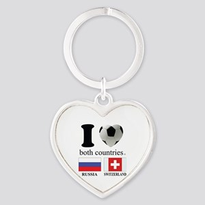 RUSSIA-SWITZERLAND Heart Keychain
