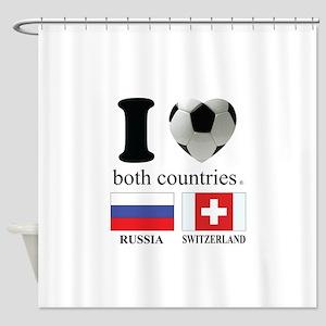 RUSSIA-SWITZERLAND Shower Curtain