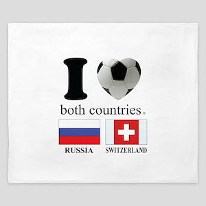 RUSSIA-SWITZERLAND King Duvet