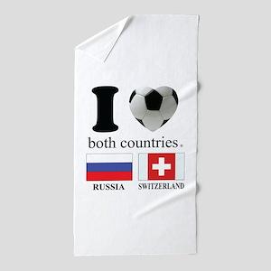 RUSSIA-SWITZERLAND Beach Towel