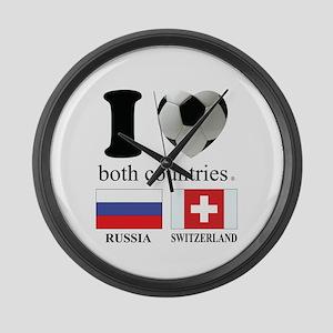 RUSSIA-SWITZERLAND Large Wall Clock