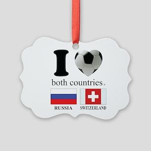 RUSSIA-SWITZERLAND Picture Ornament
