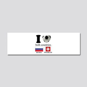 RUSSIA-SWITZERLAND Car Magnet 10 x 3