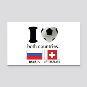 RUSSIA-SWITZERLAND Rectangle Car Magnet