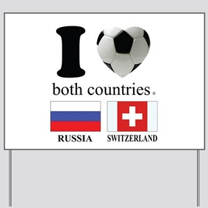 RUSSIA-SWITZERLAND Yard Sign