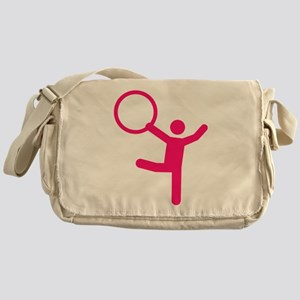 Gymnastics gymnast hoop Messenger Bag