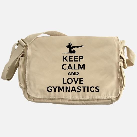 Keep calm and love gymnastics Messenger Bag