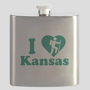 Love Hiking Kansas Flask