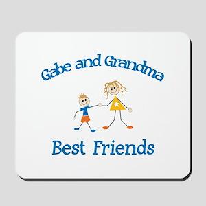 Gabe & Grandma - Best Friends Mousepad