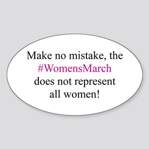 WomensMarch not All Women Sticker (Oval)