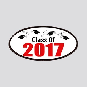 Class Of 2017 (Red Caps And Diplomas) Patch