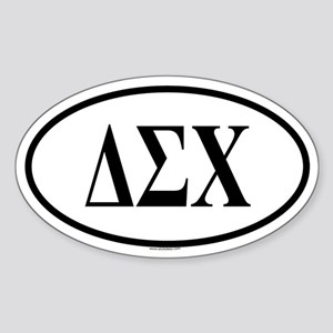 DELTA SIGMA CHI Oval Sticker