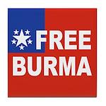 Free Burma Tile Coaster