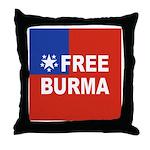 Free Burma Throw Pillow