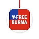 Free Burma Ornament (Round)