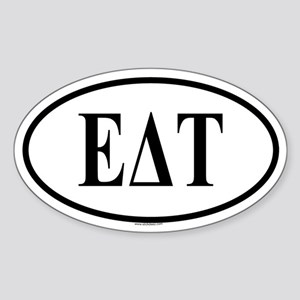 EPSILON DELTA TAU Oval Sticker