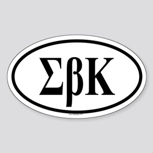 EPSILON BETA KAPPA Oval Sticker