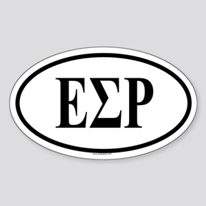 EPSILON SIGMA RHO Oval Sticker