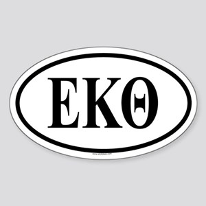 EPSILON KAPPA THETA Oval Sticker