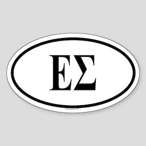 EPSILON SIGMA Oval Sticker