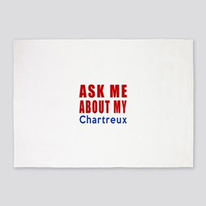 Ask Me About My Chartreux Cat Desig 5'x7'Area Rug
