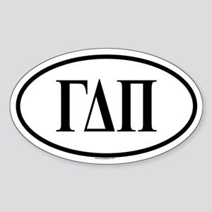 GAMMA DELTA PI Oval Sticker