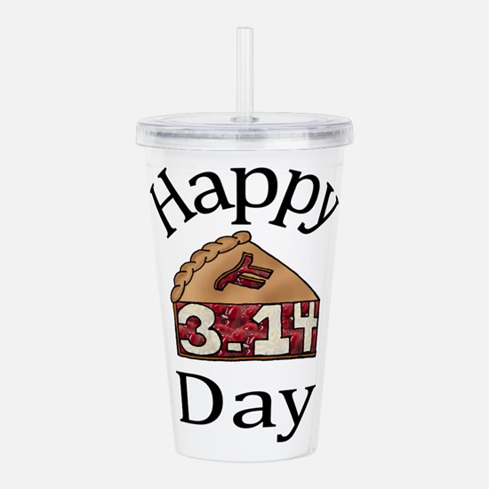 Happy Pi Day! Acrylic Double-wall Tumbler
